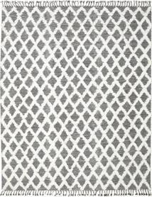 Inez - Σκούρο Καφέ/White Χαλι 300X400 Σύγχρονα Χειροποίητη Ύφανση Ανοιχτό Γκρι/Σκούρο Γκρι Μεγαλα (Μαλλί, Ινδικά)