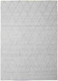 Svea - Ασημί Χαλι 250X350 Σύγχρονα Χειροποίητη Ύφανση Ανοιχτό Γκρι/Λευκό/Κρεμ Μεγαλα (Μαλλί, Ινδικά)