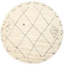 Almaaz - White Χαλι Ø 250 Σύγχρονα Χειροποιητο Στρογγυλο Μπεζ/Λευκό/Κρεμ Μεγαλα (Μαλλί, Ινδικά)