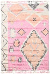 Odda - Ροζ Χαλι 160X230 Σύγχρονα Χειροποιητο Ανοιχτό Ροζ/Λευκό/Κρεμ (Μαλλί, Ινδικά)
