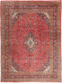 Mashad Χαλι 295X390 Ανατολής Χειροποιητο Σκούρο Κόκκινο/Ανοιχτό Καφέ Μεγαλα (Μαλλί, Περσικά/Ιρανικά)