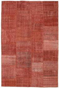 Patchwork Χαλι 196X304 Σύγχρονα Χειροποιητο Σκούρο Κόκκινο/Στο Χρώμα Της Σκουριάς (Μαλλί, Τουρκικά)