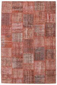 Patchwork Χαλι 198X301 Σύγχρονα Χειροποιητο Σκούρο Κόκκινο/Ανοιχτό Ροζ (Μαλλί, Τουρκικά)