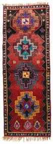 Herki Βιντάζ Χαλι 135X373 Ανατολής Χειροποιητο Χαλι Διαδρομοσ Σκούρο Κόκκινο/Μαύρα (Μαλλί, Τουρκικά)