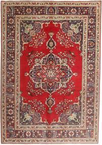 Tabriz Χαλι 207X290 Ανατολής Χειροποιητο Σκούρο Κόκκινο/Σκούρο Καφέ (Μαλλί, Περσικά/Ιρανικά)