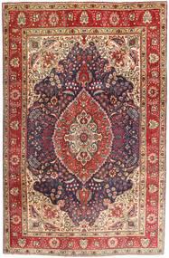 Tabriz Χαλι 200X302 Ανατολής Χειροποιητο Σκούρο Κόκκινο/Σκούρο Καφέ (Μαλλί, Περσικά/Ιρανικά)