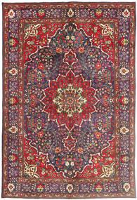 Tabriz Χαλι 200X300 Ανατολής Χειροποιητο Σκούρο Κόκκινο/Σκούρο Γκρι (Μαλλί, Περσικά/Ιρανικά)