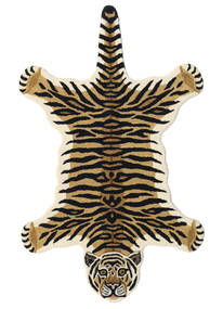 Tiger - Μπεζ Χαλι 100X160 Σύγχρονα Σκούρο Μπλε/Μπεζ (Μαλλί, Ινδικά)
