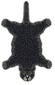 Leopard - Μαύρα Χαλι 100X160 Σύγχρονα Σκούρο Γκρι (Μαλλί, Ινδικά)