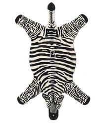 Zebra Χαλι 100X155 Σύγχρονα Μαύρα/Μπεζ (Μαλλί, Ινδικά)