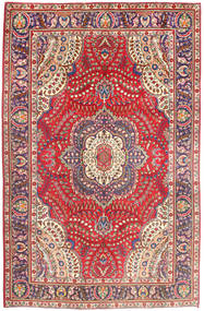 Tabriz Χαλι 197X299 Ανατολής Χειροποιητο Ροζ/Στο Χρώμα Της Σκουριάς (Μαλλί, Περσικά/Ιρανικά)