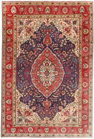 Tabriz Χαλι 199X305 Ανατολής Χειροποιητο Σκούρο Κόκκινο/Ανοιχτό Καφέ (Μαλλί, Περσικά/Ιρανικά)