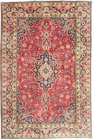 Tabriz Χαλι 194X290 Ανατολής Χειροποιητο Στο Χρώμα Της Σκουριάς/Σκούρο Γκρι (Μαλλί, Περσικά/Ιρανικά)