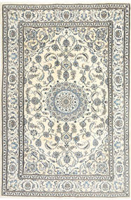 Nain Χαλι 195X300 Ανατολής Χειροποιητο Μπεζ/Ανοιχτό Γκρι/Σκούρο Γκρι (Μαλλί, Περσικά/Ιρανικά)