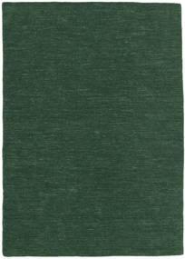 Κιλίμ Loom - Πράσινο Του Δάσους Χαλι 160X230 Σύγχρονα Χειροποίητη Ύφανση Σκούρο Πράσινο (Μαλλί, Ινδικά)