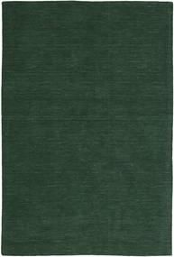 Κιλίμ Loom - Πράσινο Του Δάσους Χαλι 250X350 Σύγχρονα Χειροποίητη Ύφανση Σκούρο Πράσινο Μεγαλα (Μαλλί, Ινδικά)
