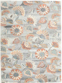 Rusty Flowers - Γκρι/Στο Χρώμα Της Σκουριάς Χαλι 200X300 Σύγχρονα Ανοιχτό Γκρι/Σκούρο Μπεζ (Μαλλί, Ινδικά)