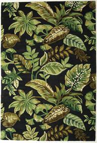 Jungel - Λαδί/Μαύρα Χαλι 200X300 Σύγχρονα Σκούρο Πράσινο/Λαδί (Μαλλί, Ινδικά)