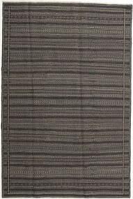 Κιλίμ Χαλι 197X298 Ανατολής Χειροποίητη Ύφανση Σκούρο Γκρι/Ανοιχτό Γκρι (Μαλλί, Περσικά/Ιρανικά)