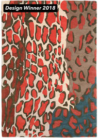 Tilda - 2018 Χαλι 160X230 Σύγχρονα Σκούρο Γκρι/Kόκκινα (Μαλλί, Ινδικά)
