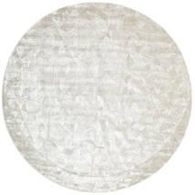 Crystal - Silver White Χαλι Ø 250 Σύγχρονα Στρογγυλο Ανοιχτό Γκρι/Σκούρο Μπεζ/Μπεζ Μεγαλα ( Ινδικά)