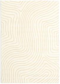 Woodyland - Μπεζ Χαλι 160X230 Σύγχρονα Μπεζ/Λευκό/Κρεμ (Μαλλί, Ινδικά)