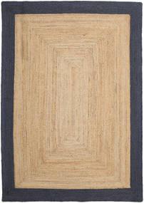Εξωτερικούς Χαλιά Frida Frame - Natural/Navy Χαλι 160X230 Σύγχρονα Χειροποίητη Ύφανση Σκούρο Μπεζ/Μαύρα/Μπεζ ( Ινδικά)