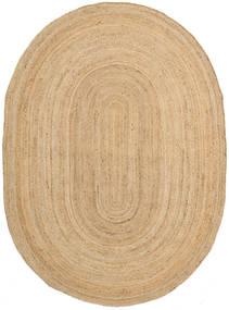 Εξωτερικούς Χαλιά Frida Oval - Natural Χαλι 140X200 Σύγχρονα Χειροποίητη Ύφανση Σκούρο Μπεζ/Μπεζ ( Ινδικά)