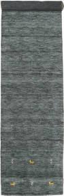 Γκάμπεθ Loom Two Lines - Σκούρο Γκρι/Λαδί Χαλι 80X350 Σύγχρονα Χαλι Διαδρομοσ Σκούρο Πράσινο/Ανοιχτό Γκρι (Μαλλί, Ινδικά)