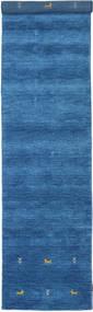 Γκάμπεθ Loom Two Lines - Μπλε Χαλι 80X350 Σύγχρονα Χαλι Διαδρομοσ Μπλε/Σκούρο Μπλε (Μαλλί, Ινδικά)