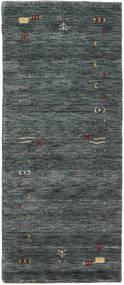 Γκάμπεθ Loom Frame - Σκούρο Γκρι/Λαδί Χαλι 80X200 Σύγχρονα Χαλι Διαδρομοσ Σκούρο Γκρι/Σκούρο Πράσινο (Μαλλί, Ινδικά)