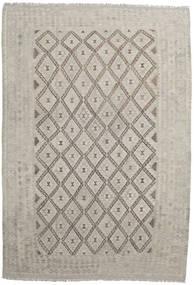 Κιλίμ Afghan Old Style Χαλι 203X296 Ανατολής Χειροποίητη Ύφανση Ανοιχτό Γκρι (Μαλλί, Αφγανικά)