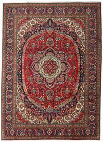Tabriz Χαλι 247X344 Ανατολής Χειροποιητο Σκούρο Καφέ/Σκούρο Κόκκινο (Μαλλί, Περσικά/Ιρανικά)