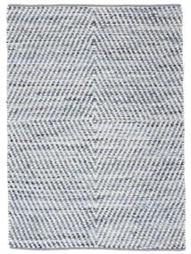 Hilda - Denim/White Χαλι 140X200 Σύγχρονα Χειροποίητη Ύφανση Μπεζ/Ανοικτό Μπλε (Βαμβάκι, Ινδικά)