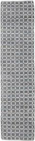 Elna - Γκρι Χαλι 80X250 Σύγχρονα Χειροποίητη Ύφανση Χαλι Διαδρομοσ Ανοιχτό Γκρι/Μωβ (Βαμβάκι, Ινδικά)