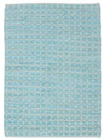 Elna - Bright_Blue Χαλι 170X240 Σύγχρονα Χειροποίητη Ύφανση Ανοικτό Μπλε/Τυρκουάζ Μπλε (Βαμβάκι, Ινδικά)