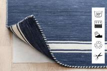 Anti Slip, Non-Woven Χαλι 240X340 Σύγχρονα Μπλε/Ανοιχτό Γκρι ( Βελγικά)