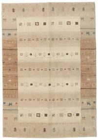 Γκάμπεθ Indo Χαλι 138X198 Σύγχρονα Χειροποιητο Χαλι Διαδρομοσ Μπεζ/Ανοιχτό Γκρι (Μαλλί, Ινδικά)