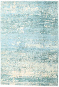 Damask Collection Χαλι 193X282 Σύγχρονα Χειροποιητο Τυρκουάζ Μπλε/Ανοικτό Μπλε ( Ινδικά)