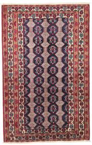 Beluch Πατίνα Χαλι 132X206 Ανατολής Χειροποιητο Σκούρο Μωβ/Μπεζ (Μαλλί, Περσικά/Ιρανικά)