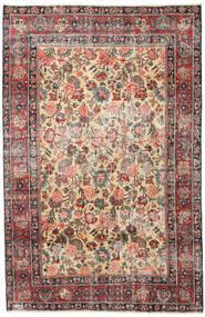 Mashad Πατίνα Χαλι 185X285 Ανατολής Χειροποιητο Ανοιχτό Καφέ/Σκούρο Γκρι (Μαλλί, Περσικά/Ιρανικά)