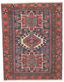 Heriz Πατίνα Χαλι 96X123 Ανατολής Χειροποιητο Σκούρο Γκρι/Στο Χρώμα Της Σκουριάς (Μαλλί, Περσικά/Ιρανικά)