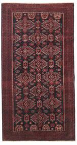Beluch Πατίνα Χαλι 95X177 Ανατολής Χειροποιητο Σκούρο Κόκκινο/Μαύρα/Σκούρο Καφέ (Μαλλί, Περσικά/Ιρανικά)