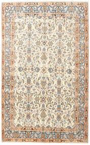 Kerman Χαλι 145X240 Ανατολής Χειροποιητο Μπεζ/Λευκό/Κρεμ (Μαλλί, Περσικά/Ιρανικά)