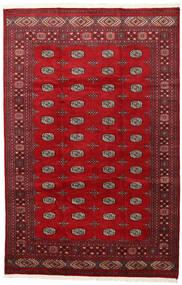 Pakistan Μπουχαρα 2Ply Χαλι 202X312 Ανατολής Χειροποιητο Kόκκινα/Σκούρο Κόκκινο (Μαλλί, Πακιστανικά)