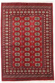 Pakistan Μπουχαρα 2Ply Χαλι 125X185 Ανατολής Χειροποιητο Σκούρο Κόκκινο (Μαλλί, Πακιστανικά)