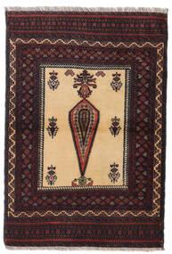 Beluch Χαλι 88X126 Ανατολής Χειροποιητο Σκούρο Κόκκινο/Σκούρο Καφέ (Μαλλί, Περσικά/Ιρανικά)