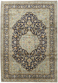 Keshan Χαλι 254X361 Ανατολής Χειροποιητο Μαύρα/Ανοιχτό Γκρι Μεγαλα (Μαλλί, Περσικά/Ιρανικά)