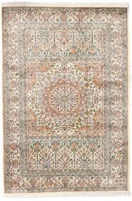 Kashmir Καθαρό Μετάξι Χαλι 127X186 Ανατολής Χειροποιητο Ανοιχτό Γκρι/Μπεζ (Μεταξωτά, Ινδικά)
