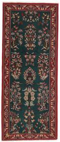 Ghom Kork/Μετάξι Χαλι 82X206 Ανατολής Χειροποιητο Χαλι Διαδρομοσ Σκούρο Πράσινο/Σκούρο Κόκκινο (Μάλλινα/Μεταξωτά, Περσικά/Ιρανικά)